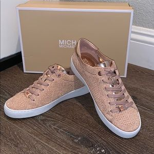 SKYLER METALLIC MICHAEL KORS SNEAKERS ROSE GOLD 6